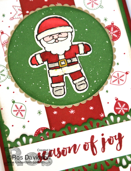 Stampin' Up!, free Christmas card tutorial, be merry designer series paper, christmas pines, cookie cutter christmas stamp set, watercoloring, Heart of Christmas, christmas card, free step by step instructions included
