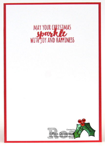 Stampin' Up!, free Christmas card instructions, Heart of Christmas, christmas card, free step by step instructions included, holly berry happiness stamp set, christmas pines stamp set, fussy cutting, holly leaf wreath,