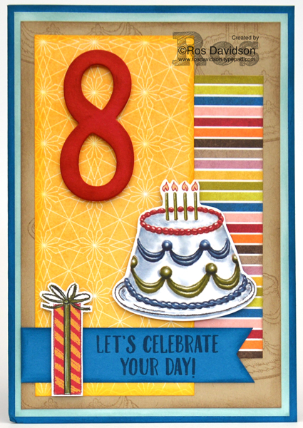 August Stamps By Mail: Stampin' Up! birthday delivery bundle, big shot, stamp class by mail, fussy cutting, tone on tone stamping