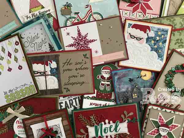 Stampin' Up!, heart of christmas, free step by step instructions,