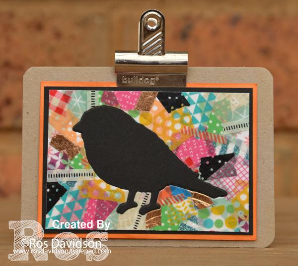 stampin up, artist trading card, atc, birds and blooms thinlets, big shot, myths and magic washi tape, basics pack 1 washi tape, washi tape