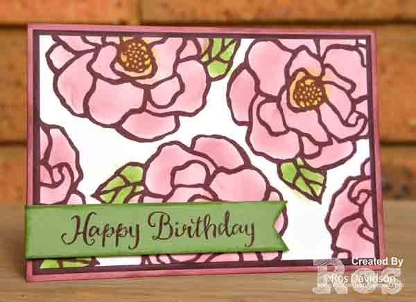 Stampin' Up! beautiful day, birthday card, colouring with sponge daubers