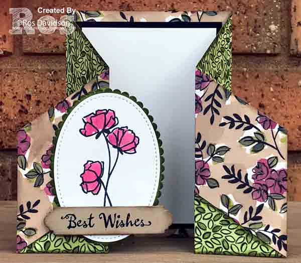 Stampin Up, share what you love, petal palette, big shot, double gate fold card