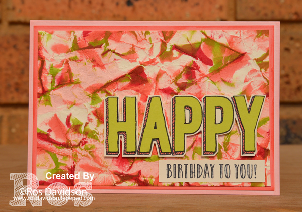 Stampin' Up!, birthday card, card classes, camouflage technique, birthday wit, happy celebrations