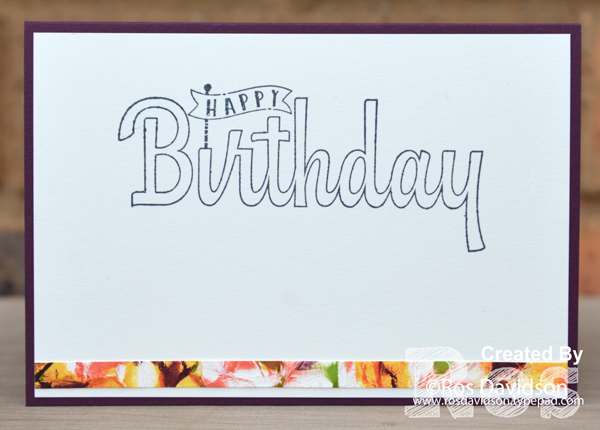 Stampin up, colour creations, blog hop, color coach, colour coach, blackberry bliss, broadway birthday, birthday wishes for you, big shot, camouflage technique