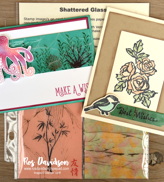 Stampin' Up!, techniques class, card class in Skye VIC, shattered glass, sea of texture, petal palette, artistically asian, happy birthday gorgeous