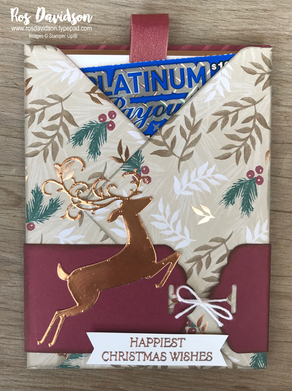 Stampin up, blog hop, heart of christmas, Christmas cards, Melbourne Australia, card ideas, dashing deer, christmas pines, envelope punch board, heat embossing, big shot