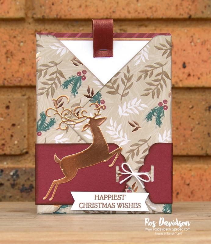 Stampin up, blog hop, heart of christmas, Christmas cards, Melbourne Australia, card ideas, dashing deer, christmas pines, envelope punch board, heat embossing, big shot