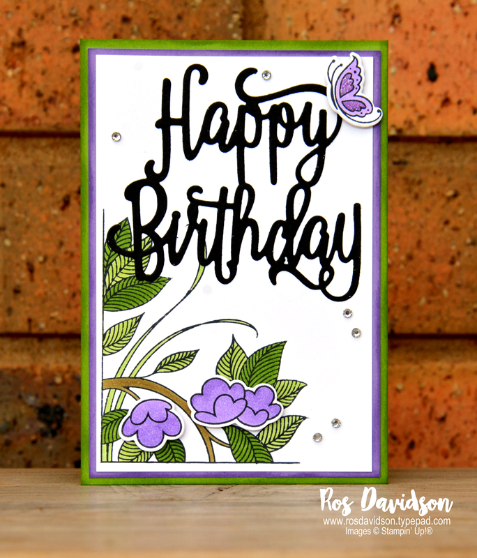 Stampin up, colour creations, blog hop, color coach, colour coach, granny apple green, serene garden, big shot, happy birthday thinlets