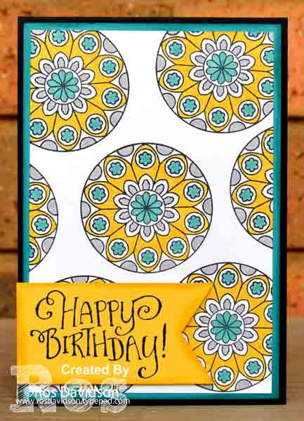 Stampin Up, try it thursday, painted glass, card CASE, birthday card, stampin blends, bermuda bay, better together, triple banner punch