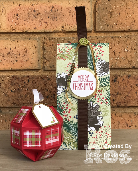 Stampin' Up!, art with heart, designer series paper blog hop, better together, christmas pines, christmas in july, paper ornament, designer series paper bag,