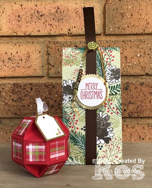 Stampin' Up!, art with heart, designer series paper blog hop, better together, christmas pines, christmas in july, paper ornament, designer series paper bag,