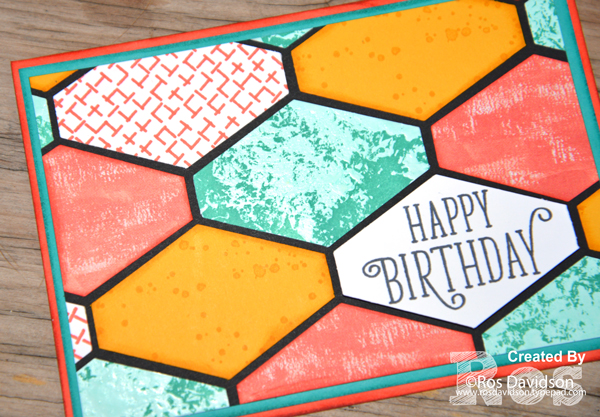 Stampin up, colour creations, blog hop, color coach, colour coach, calypso coral, tailored tag punch, distressed glue technique, birthday background stamp set, happy birthday gorgeous  stamp set, timeless textures stamp set