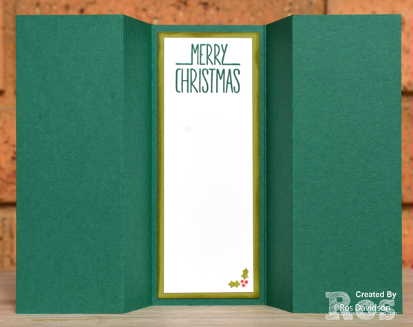 Stampin up, blog hop, heart of christmas, Christmas cards, triple panel fancy fold card, tutorial, free instructions, christmas pines, under the mistletoe designer series paper