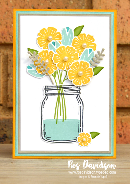 Stampin up, colour creations, blog hop, color coach, colour coach, crushed curry, jar of love, beautiful bouquet, big shot