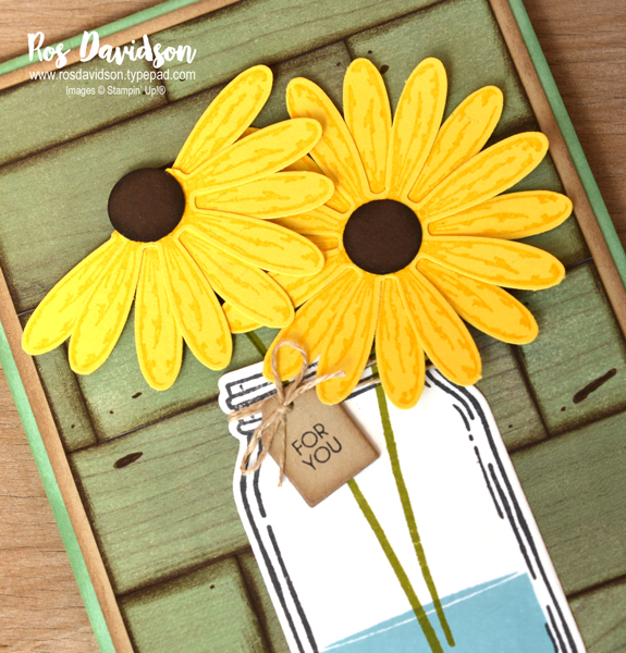 Stampin up, colour creations, blog hop, color coach, colour coach, daffodil delight, jar of love, daffodil delight, wood textures designer series paper, for you card