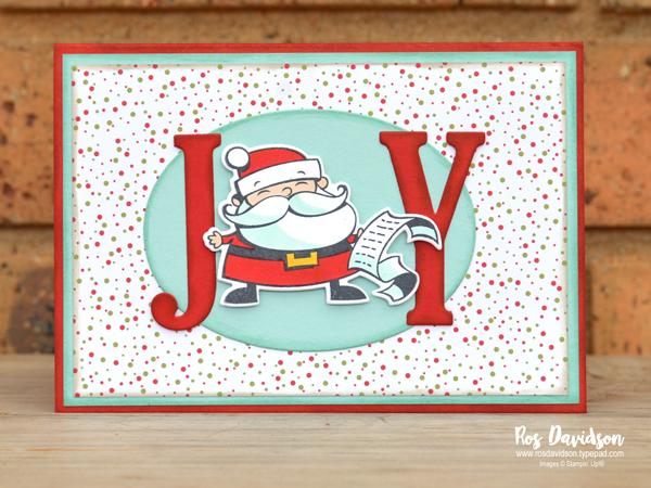 Stampin up, blog hop, heart of christmas, Christmas cards, signs of santa, big shot, santa signpost framelits, under the mistletoe dsp, large letters framelits