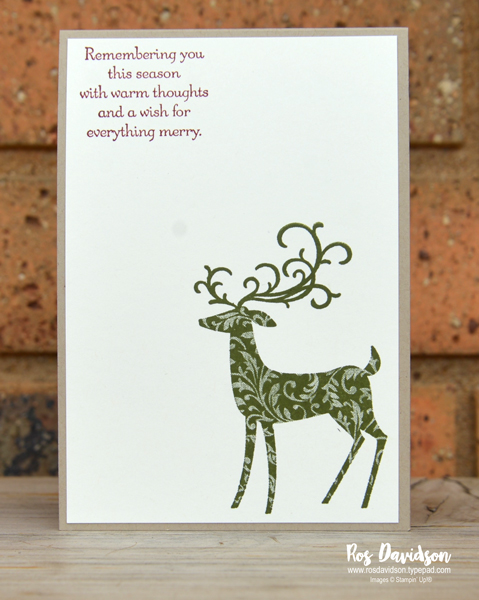 Stampin up, blog hop, heart of christmas, Christmas cards, merry christmas to all, dashing deer, tin tile, big shot, christmas card