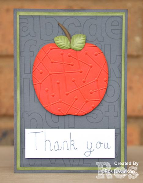 Stampin up, colour creations, blog hop, color coach, colour coach, lined alphabet, big shot, handwriting, thank you, teacher, thank you card