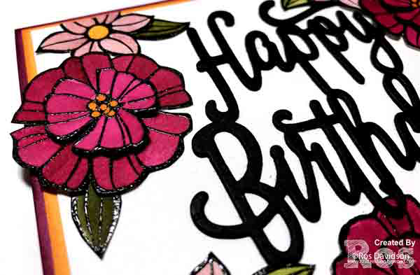 Stampin up, colour creations, blog hop, color coach, colour coach, berry burst, falling flowers, big shot, happy birthday thinlets, watercoloring, watercoloring, broadway birthday, broadway lights framelits, heat embossing,