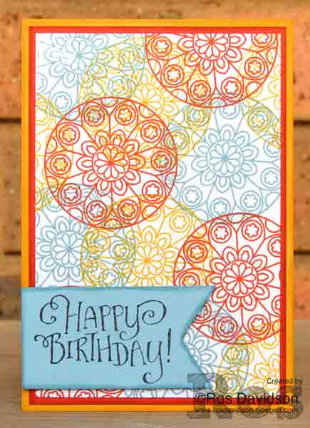 Stampin Up, try it thursday, painted glass, card CASE, birthday card, colour coach, color coach, balmy blue