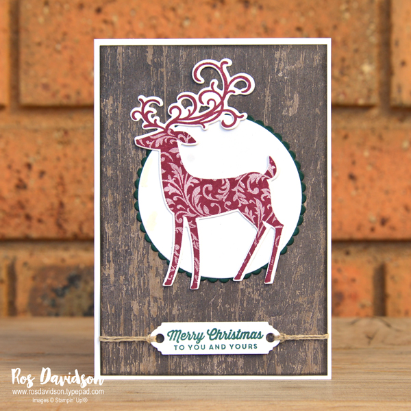 Stampin up, blog hop, heart of christmas, Christmas card, dashing deer, tags & tidings, big shot