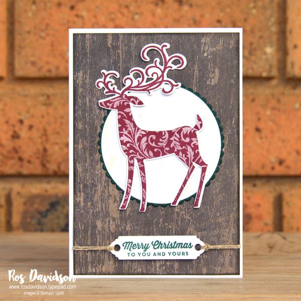 Stampin up, blog hop, heart of christmas, Christmas card, dashing deer, tags & tidings, big shot