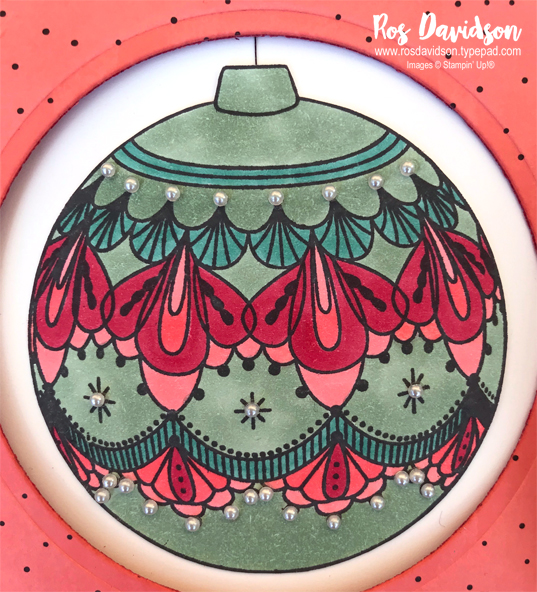 Stampin' Up!, holiday catalogue, blog hop, beautiful baubles, stampin' blends, fancy fold card, christmas card, pop down card