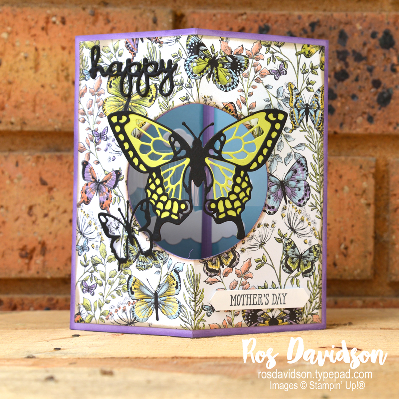 Stampin Up, blog hop, occasions catalogue, saleabration, botanical butterfly, up and away, well said, well written framelits, pop up card, floating pop up card, butterfly duet punch, fussy cutting