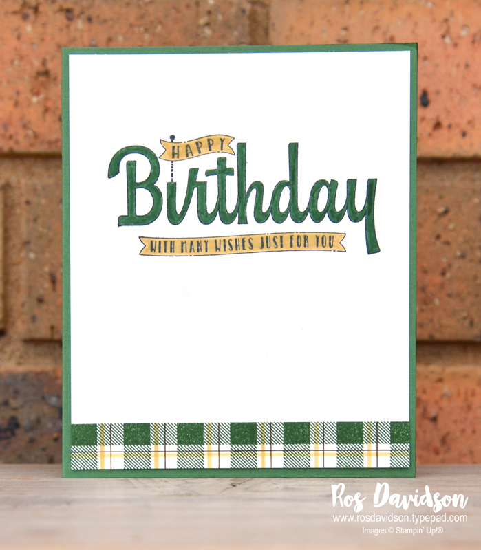 Stampin up, colour creations, blog hop, color coach, colour coach, garden green, john deere, tractor, punch art, design your own dsp, buffalo check, birthday wishes for you, big shot, punch art tutorial