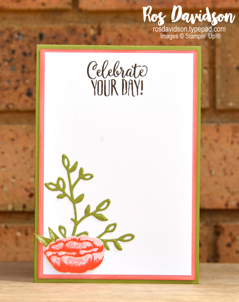 Stampin up, colour creations, blog hop, color coach, colour coach, Melbourne Australia, card ideas, incredible like you, happy cupcake, well said, big shot, stitched shapes, petals and more,  fussy cutting, 2 step stamping