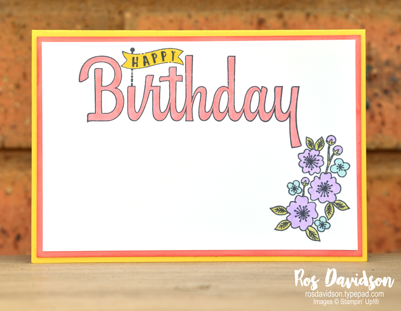 Stampin Up, big shot, celebrate your day, saleabration, country floral textured impressions embossing folder, hello cupcake, coloured dry embossing technique