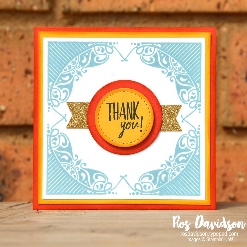 Stampin Up, colour coach, all adorned, thank you card, you've got style, saleabration