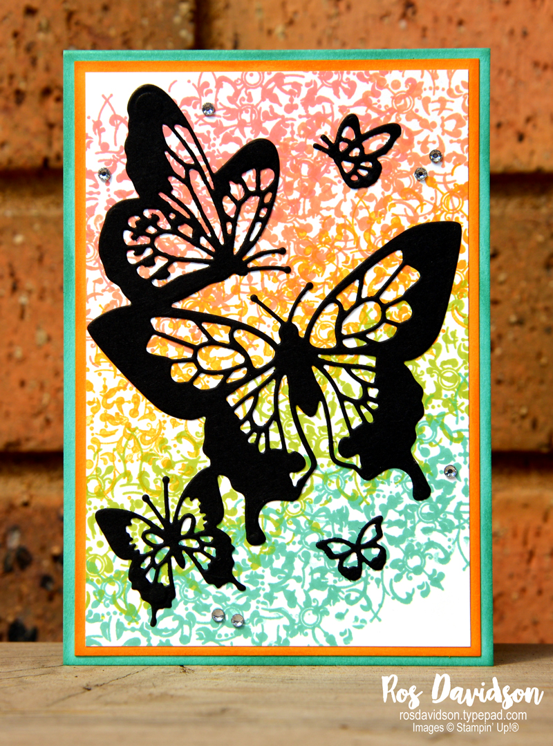 Stampin up, all adorned, butterfly beauty thinlet dies, big shot, CASE, saleabration,