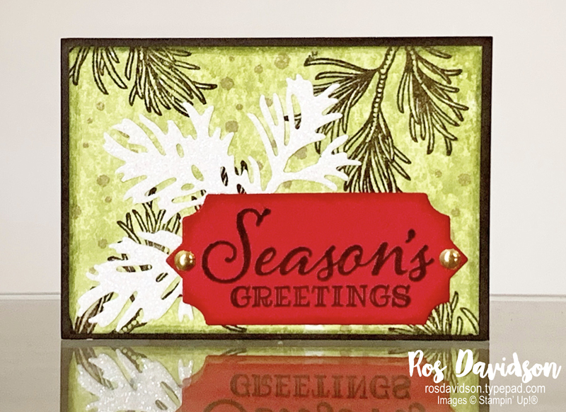 Stampin' Up!, ATC, artist trading cards, peaceful boughs, beautiful boughs dies, bundle pricing, carry over list, christmas catalogue, holiday catalogue