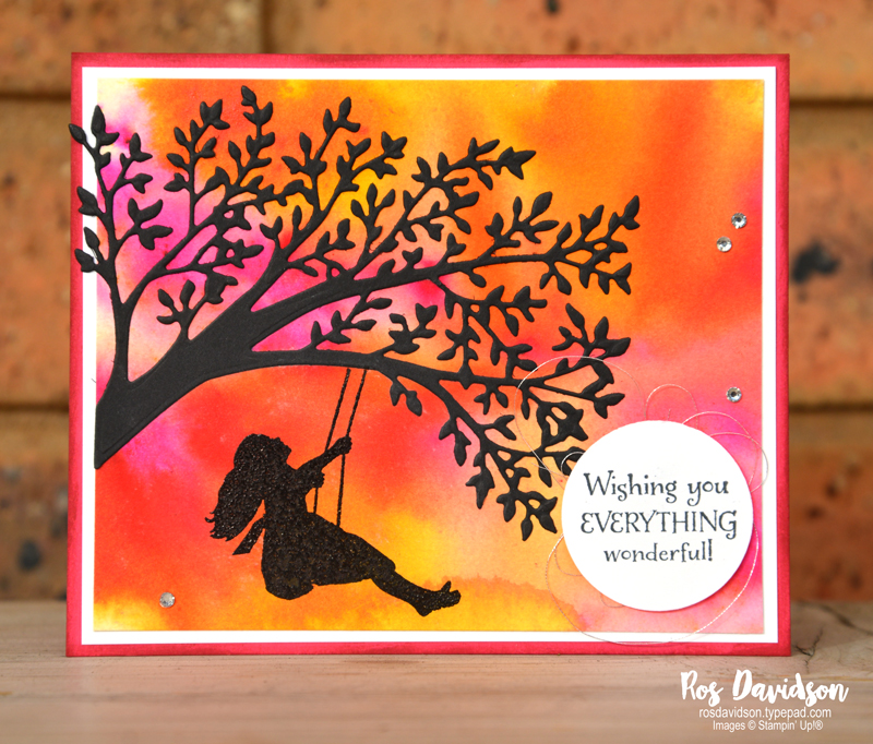 Stampin Up, pigment sprinkles, techniques class, melbourne, victoria, on to adventure, watercolor, sweet silhouettes, silhouette scenes