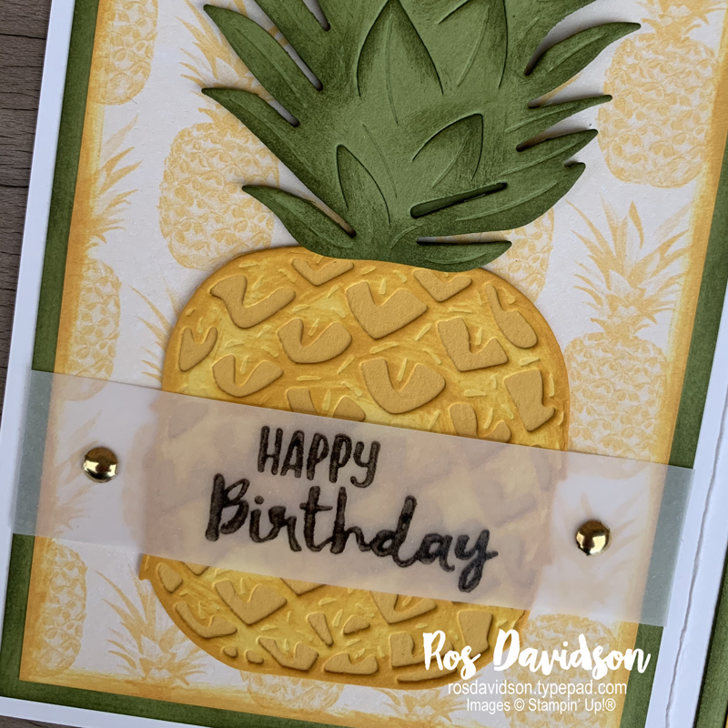 Stampin' Up!, january - june 2020 mini catalogue , timeless tropical bundle, tropical oasis DSP, building block card, sending you thoughts, sale-a-bration, saleabration, birthday card, card classes south east melbourne, frankston, skye,