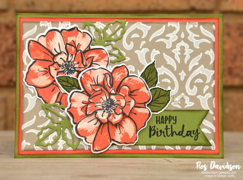 Stampin' Up!, techniques class, decorative masks, basic pattern decorative mask, pattern party decorative mask, to a wild rose, over the moon, white gel pen, sending you thoughts, saleabration, sale-a-bration, fussy cutting, january - june 2020 mini catalogue