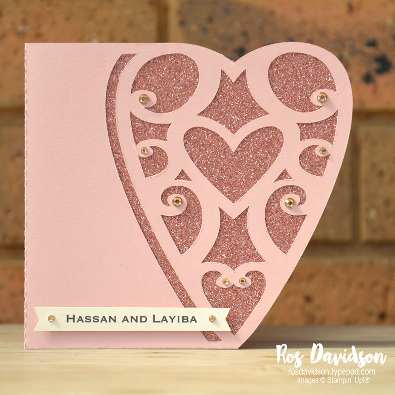 Stampin' Up! engagement card, heart card, custom order, beauty abounds