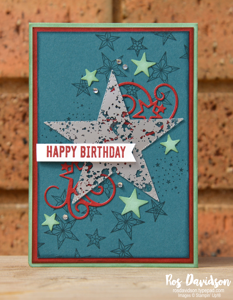 Stampin' Up! so many stars, so many stars bundle, mercury glass designer acetate, birthday card, CASED card, stampin up holiday catalogue,
