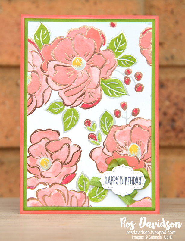Stampin' Up!, saleabration, sale-a-bration, the gangs all meer, flowering foils specialty dsp, stampin' blends, crinkled seam binding ribbon, watercoloring, watercolouring, bonanza buddies