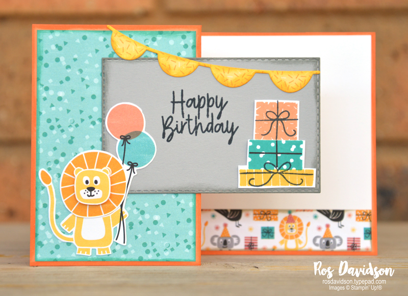 Stampin' Up!, stamping challenge #1, bonanza buddies, bonanza buddies bundle, z fold card, #keepstamping
