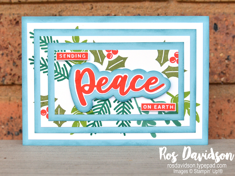 Stampin' Up!, making merry monday, peace and joy bundle, triple layer stamping