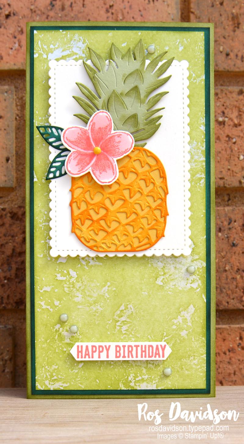 Stampin Up slimline tropics dies birthday card