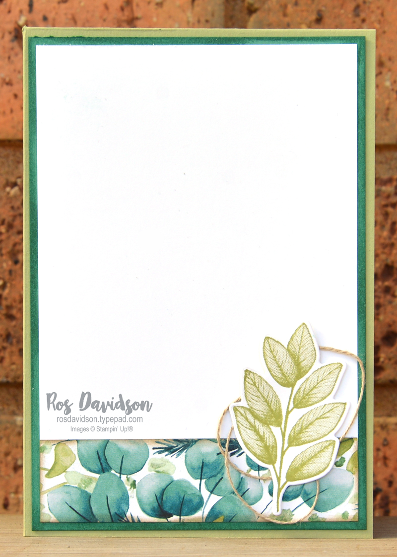 For you diagonal triangle card using punch party stamp set and forever fern bundle Stampin Up