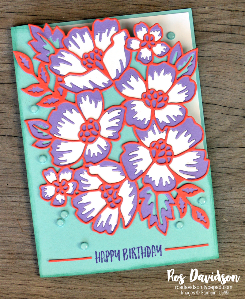 Many layered blossoms card stampin up
