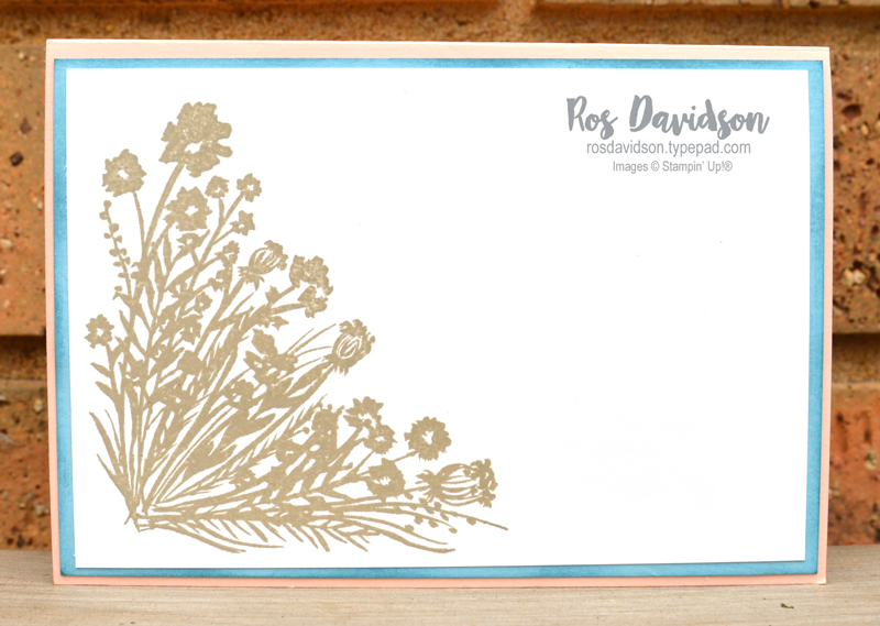 Corner bouquet Stampin Up