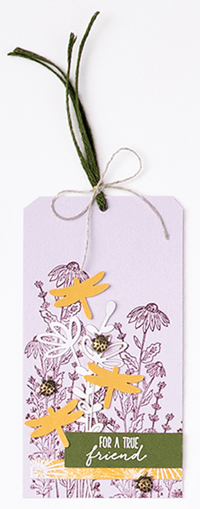 Dandy garden suite tag Stampin Up