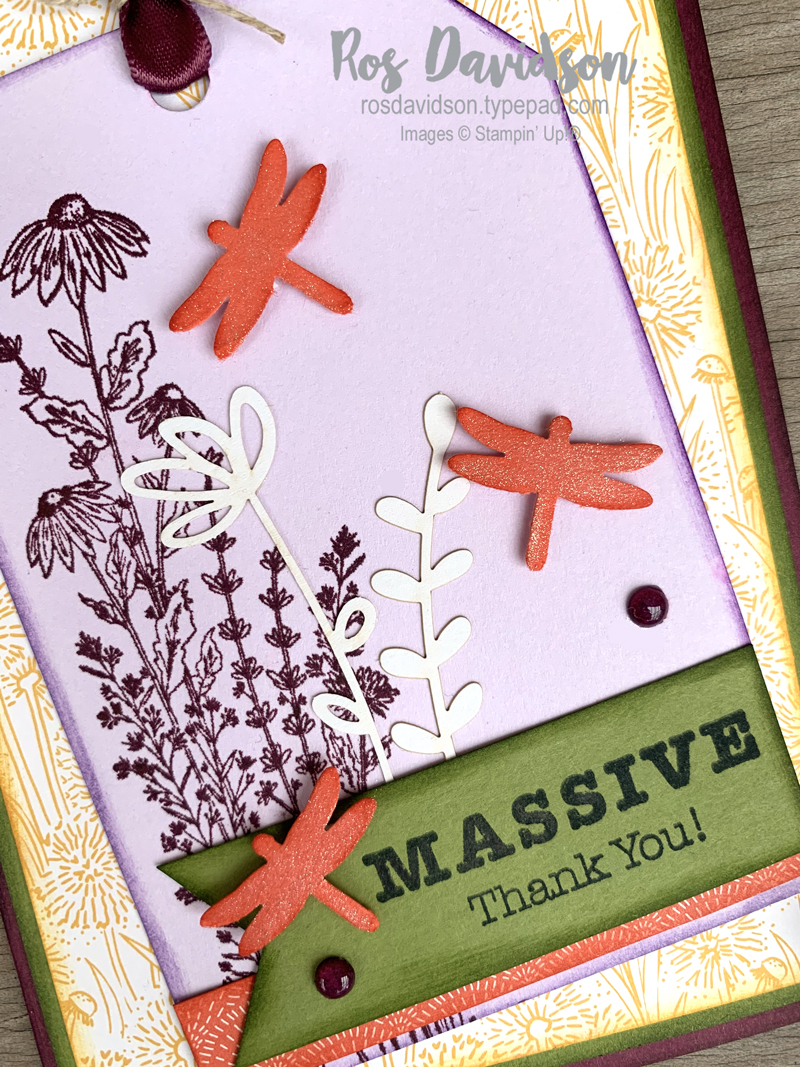 Dandy garden suite card Stampin Up