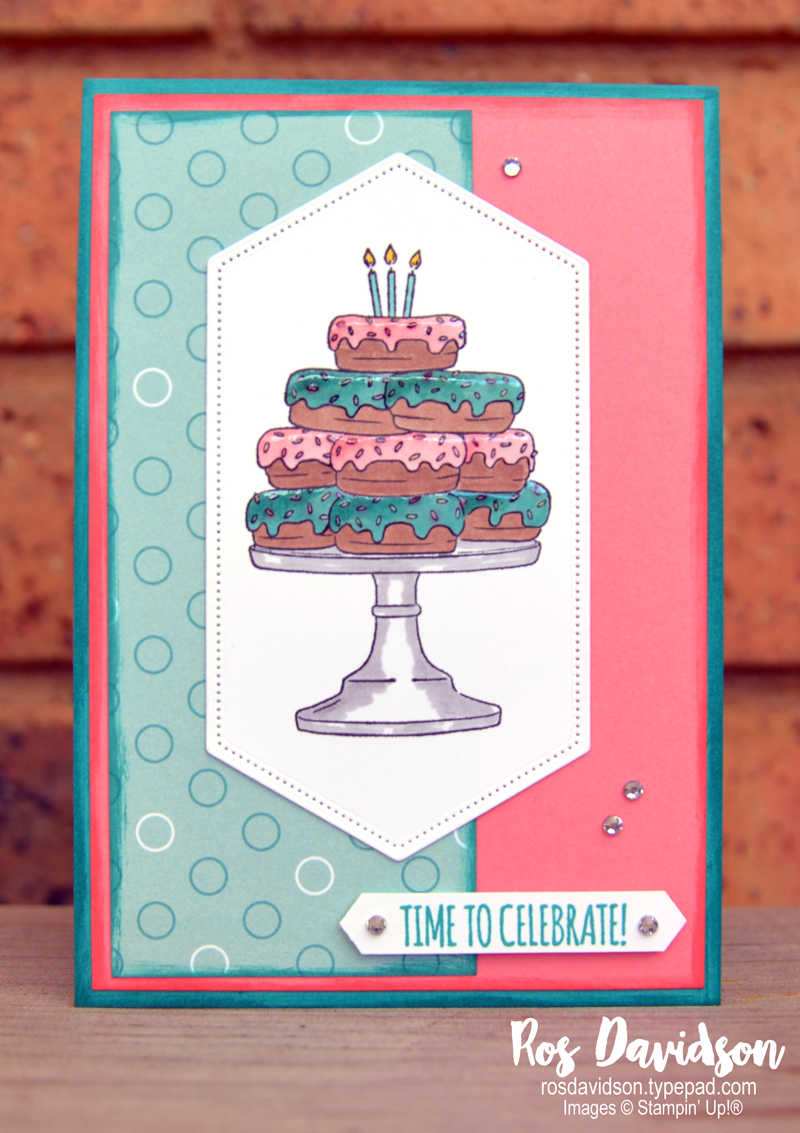 Stampin up, stamping challenge 6, birthday goodness, itty bitty birthdays, stitched nested labels, stampin blends, picture perfect dsp